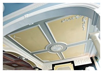 Adam design ceiling plaster moulding, centre decoration and frieze.